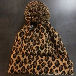 Olive & Oique Cheetah Hat, NWT!